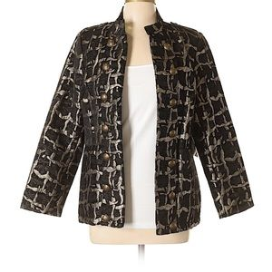 Longer length, detailed blazer by Sharon Young.